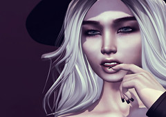 I think I forgot what I was supposed to remember. (Ember Adored) Tags: prtty thecoven mudskin catwa head kathy lotus foxcity secondlifeevents secondlifefashion sl maitreya headshot closeup portrait
