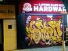 Lower East Side Hardware (edenpictures) Tags: newyorkcity clintonstreet lowereastside manhattan night dark sign graffiti hardwarestore 98clintonstreet