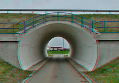 Brücke in Zedtwitz ( 3D ) (GerWi) Tags: brücke haus fz1000 3d stereo strase ort