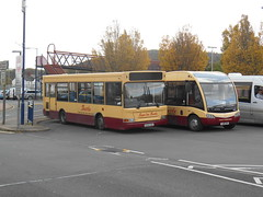 Harris Coaches 29 and 38 (Welsh Bus 17) Tags: harriscoaches dennis dart slf plaxton pointer 29 gu52hax coastalcoaches optare solo sr jack 38 yj66arx caerphilly