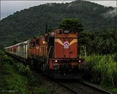 12223 Lokmanya Tilak-Ernakulam Duronto. (Gautham Karthik) Tags: train indianrailways railroad trainspotting diesellocomotive wdg3a kalyan shakti duronto express kerala godsowncountry utralikkavu