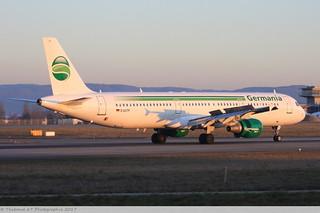 Airbus A321 -211 GERMANIA D-ASTP 0684 Mulhouse décembre 2015