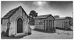 Three Houses (4 Pete Seek) Tags: westviewcemetery cemetery atlanta atlantageorgia atl atlantacemetery sps southeasternphotographicsociety bw blackwhite blackandwhite