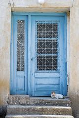 Blue Wood Door 229 (syf22) Tags: wood door window old disintegration destroy ruin decay disrepair dilapidated rubble wreck