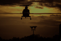Last Call (IAN GARDNER PHOTOGRAPHY) Tags: helicopter chopper airambulance air universityhospitalcoventry emergencyservices nhs sunset aviation aircraft transport nikon