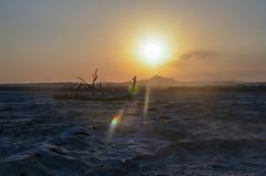 Larnaca Salt Lakes Sunset (gavin.mccrory) Tags: cyprus europe water sun sunset nikon nikkor 35mm dslr photo larnaca larnaka landsxape