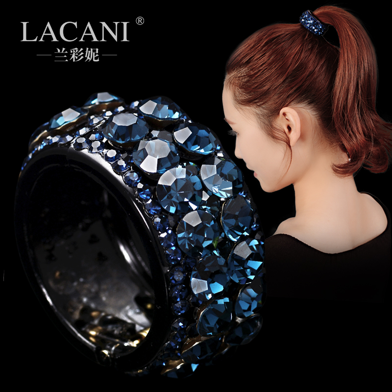 Hair ring jewelry Korea headdress Ponytail Hair female personality buckle Korea hairpin hair rope diamond top clamp
