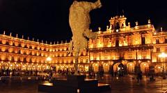 Salamanca, Plaza Mayor (kadege59) Tags: spain spanien españa europe europa city cityscape nightshot night citylife street streetscene canon