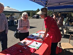 Moms Clean Air Force Nevada tables at the Alpine Aspen Festival.