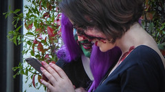 Facebook Zombies (Theen ...) Tags: adelaide blood chimping facebook girls green hair iphone lips lumix nail polish purple red socialmedia theen women young zombiewalkadelaide