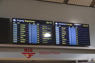 Departures from Trondheim S.