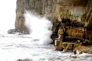 Pett Level cliffs high tide 9