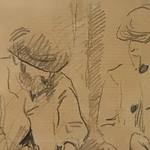 CEZANNE,1872-73 - Cézanne gravant auprès du Docteur Gachet, La Morsure (drawing, dessin, disegno-Louvre RF29925) - Detail 20 thumbnail