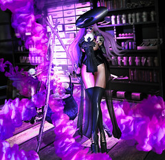 †‡† Ghetto A$$ Witch †‡† (Venus Germanotta) Tags: secondlife fashion slay style fierce sickening witch ghettoasswitch purple drd azoury hautecouture avantgarde highfashion couture ison disorderly randommatter salem halloween hallowseve october magic voodoo blackmagic gas smoke aesthetic bookshelp furniture psychic crystalball photoshop graphicdesign design edit photography lighting perspective glow light latex leather sheer dark sexy cureless cauldron spell cast witchcraft bitchcraft astralia blog blogger blogging blogpost scene fantasy fantasea wiccan power energy potion concoction religion witchtrials sintiklia weave chic glamorous grimes event crystals books