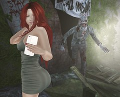 Bad Place for a Selfie (Sparrow Michigan) Tags: woman girl female secondlife avatar sl zombie