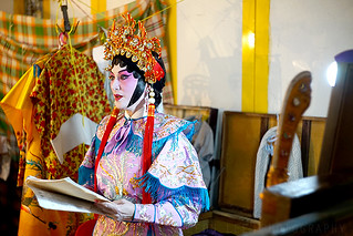 Chinese opera backstage