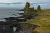 Londrangar (kevin-palmer) Tags: europe iceland september fall autumn clouds cloudy sky overcast nikond750 snæfellsnespeninsula atlanticocean sea water green grass cliffs tamron2470mmf28 basalt volcanic lava malarifflighthouse lighthouse