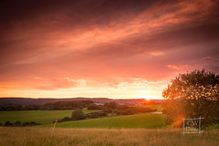 Eifel (C.W.-Photography) Tags: eifel sunset light landscape landschaft baum wiese natur