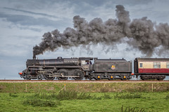 Camelot on Freshfield 3 (Nimbus20) Tags: standard 5 black smoke steam engine train sunshine sussex england clear trees countryside charter br british rail