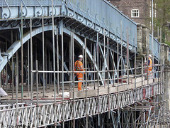 Repairs under way (Row 17) Tags: england engineering englishheritage worldheritagesite heritagesite historicsite shropshire ironbridge telford severnvalley 1779 touristattraction bridges bridge