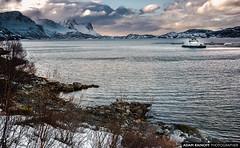 Langfjord Fish Cages Norway (arainoffphoto) Tags: fjord altafjord langfjord ship landscape winter travel shore mountains dock alta norway europe tourism snow