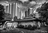 The last kampung (gunman47) Tags: 2017 asia b bw buangkok east lorong mono monochrome new october sg sepia singapore south village w black flat kampung landscape last photography redevelopment rural white sky building contrast