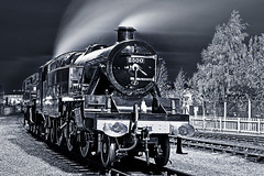 LMS 2500 (Novocastria Photography) Tags: steam steamlocomotive steamloco locomotion locomotionshildon lmsstanierclass night steamphotography nocturnalphotography novocastriaphotography