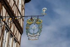 Schwäbisch Hall (krieger_horst) Tags: schilder schwäbischhall himmel wolken