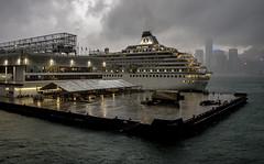 Wet Hong Kong (Tony Tomlin) Tags: hongkong china cruiseship crystalsymphony crystalcruises