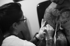 IMG_6207 (pasodoble_ marc domènech raya) Tags: barcelona tattoo tatuaje catalunya canon capture moments blackandwhite color people streetphotography streetphoto