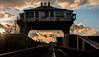 Wilmington Swing Bridge (SydPix) Tags: wilmington bridge swingbridge hull riverhull crossing railway disused cabin timber iron sunset evening silhouette glint reflection clouds sydyoung sydpix