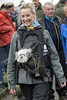 Smiling dog lover (Frank Fullard) Tags: frankfullard fullard candid street portrait lover dog smile pet lady girl ballinasloe fair horsefair galway irish ireland pup puppy happy blonde e c cu