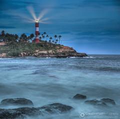 Lighthouse at Kovalam Beach, Kerala, India