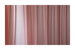 Still life. (jean penders) Tags: curtain hanging pink twitching stilllife