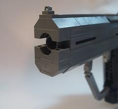 Lego Halo 2 Magnum: Barrel ({Jim.Kromastus}) Tags: lego halo halo2 m6c magnum