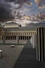 Colonnes de Buren (Edgard.V) Tags: paris parigi palais royal daniel buren colonnes columns colonna noir blanc black white negro blanco branco
