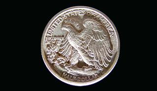 1939 Walking Liberty Half Dollar Reverse