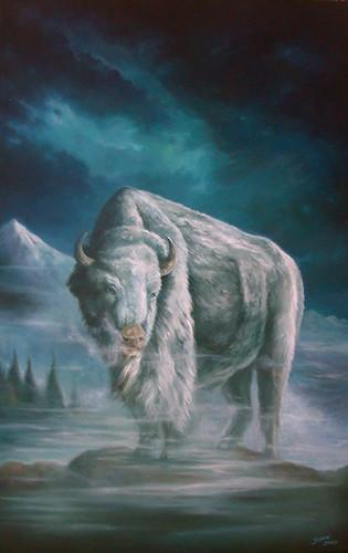 White Buffalo -Oil on Canvas