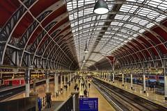 Platform 9 (Nige H (Thanks for 11m views)) Tags: station paddington paddingtonstation london londonpaddington england platform trains trainstation architecture