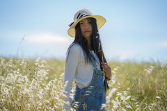 k. (Roberto.Trombetta) Tags: girl woman asia thai chinese portrait field farmer hat black hair fashion summer sun sunny wheat grain sony alpha 7rm2 7rii batis1885 carl zeiss batis 85 fine art fineart close up people life bokeh ritratto persone portraiture