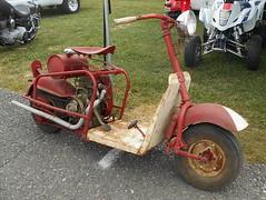 1948-49 Cushman 620 (splattergraphics) Tags: 1948 1949 cushman 620 scooter patina carshow carlisle fallcarlisle carlislepa