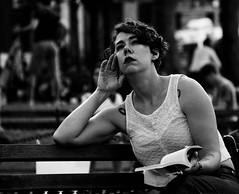 """Where have all the good men gone And where are all the gods?"" - Bonnie Tyler (Lidiya Nela) Tags: sonya6000 sony cinematic emotions thoughts nyc newyork newyorkcity manhattan greenwichvillage washingtonsquarepark urban park city bench candid people woman portrait bw blackandwhite"