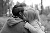 Daddy & Daughter (Olga Kavaler) Tags: daddy daughter daddydaughter love family forest bw girl babygirl pine pines nature sweet autumn