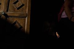 Getting out from a church (Alberto Pérez Puyal) Tags: 2017 alberto brown door hand italy light mazara minimalism minimalist perez puyal shadow sicily tourism tourist vallo wood mazaradelvallo