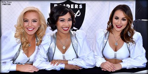 2017 Oakland Raiderettes Kara, Alyssa & Anabelle