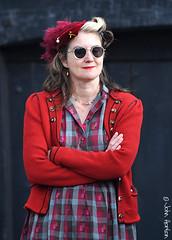 NYMR 1940's Weekend (2017) 068 (Row 17) Tags: england yorkshire grosmont 1940s northyorkmoorsrailway event reenactment reenactor reenactors people woman women nikon candid portrait sunglasses