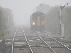 Out Of The Mist 156473 (Explore 22/10/17) (Gary Chatterton 4 million Views) Tags: eastmidlandstrains 156473 dmu dieselmultipleunit skegness mist fog railwaysignals railway train passengertrain railwaystation seaside holiday networkrail flickr explore photography amateur class156 points track