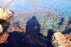 Ombre sull'acqua (Cecco80) Tags: mare ombra pensiero scoglio scogli spiaggia sole limpida calmo arenzano liguria