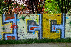 Simple wall (Kay Harpa) Tags: streetart murs paintedwalls artinthecity graffitis paris france photokay thebiggestgroup