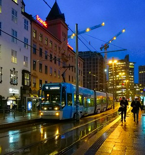 Not many people in Oslo a rainy afternoon ☔.